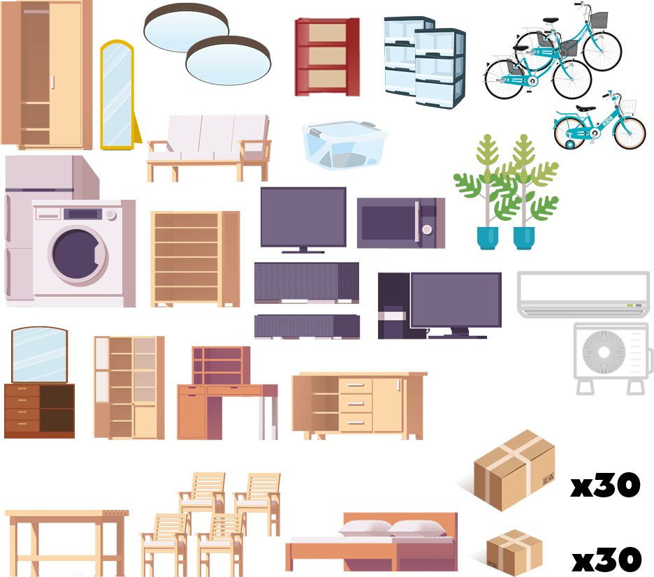 家具の一例